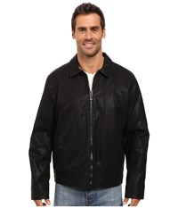 Calvin Klein Faux Leather Shirt Collar Jacket Black Men's Coat