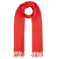 John Lewis Wool Mix Occasion Scarf Red