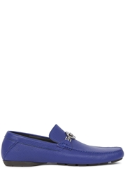 Versace Blue Leather Loafers