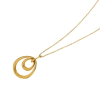 Dinny Hall Small Toro Double Loop Pendant Gold