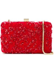 Elie Saab Embroidered Beaded Clutch
