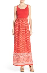 Fraiche By J Women's Floral Print Cutout Maxi Dress