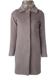 Herno Stuffed Buttoned Coat Grey