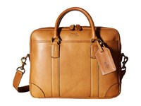 Polo Ralph Lauren Core Leather Commuter Bag Cognac Bags Tan