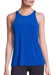 Beyond Yoga Striped Tank Top Cobalt Blue