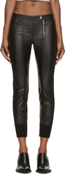 Diesel Black Gold Black Cropped Leather Pants