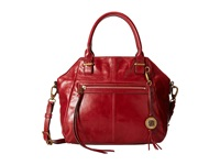 Elliott Lucca Faro Medium Satchel Cherry Satchel Handbags Red