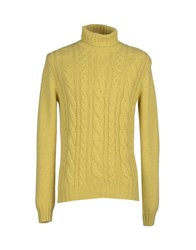 Della Ciana Knitwear Turtlenecks Men Yellow