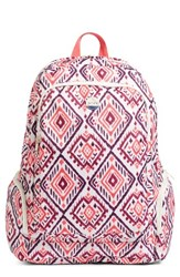 Roxy Alright Print Backpack Pink Ikat Bali Combo Geranium
