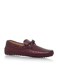 Tod's 122 Tie Drivers Male Wine