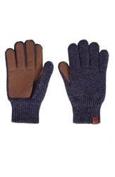 Men's Bickley Mitchell Knit Gloves Navy Twist