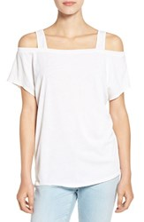 Splendid Women's Cold Shoulder Tee Paper