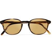 Oliver Peoples Fairmont Round Frame Acetate Sunglasses Brown