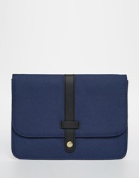 Asos Textured Ipad Mini Case With Black Faux Leather Strap Blue