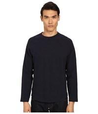 Billy Reid Baseball Pullover Navy Men's Sweatshirt