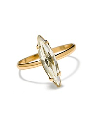 Bing Bang Crystal Shard Swarovski And 14K Yellow Gold Ring
