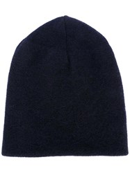 Roberto Collina Basic Beanie Blue