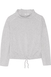Helmut Lang Hooded Cashmere Top Gray