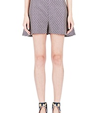 Marni Patterned Wide Shorts Brown
