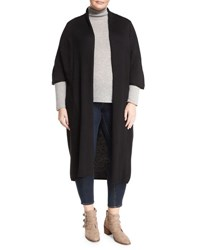 Neiman Marcus Half Sleeve Long Cardigan Black