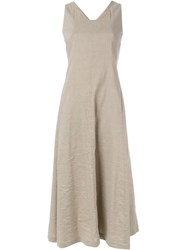 Theory Cross Back Dress Nude And Neutrals
