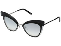 Marc Jacobs 100 S Palladium Gray Silver Shaded Lens Fashion Sunglasses Clear