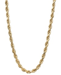 Macy's 14K Gold Necklace 20' Diamond Cut Seamless Rope Chain