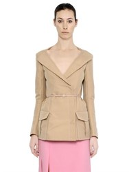Nina Ricci Fitted Cotton Belted Jacket