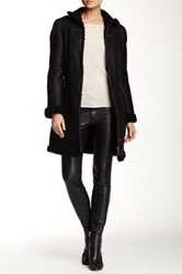 Andrew Marc New York Skylar Leather And Genuine Lamb Shearling Coat Black