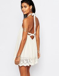 Tularosa Holden Backless Swing Dress Natural Cream