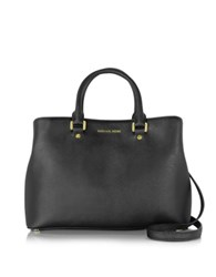 Michael Kors Savannah Large Saffiano Leather Satchel Bag Black