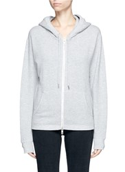 Rag And Bone 'X Boyfriend' French Terry Zip Up Hoodie Grey