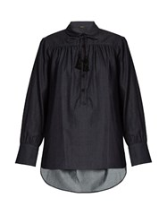 Adam By Adam Lippes Blouson Sleeved Denim Blouse