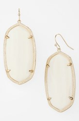 Women's Kendra Scott 'Danielle Large' Oval Statement Earrings White Mother Of Pearl