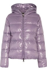 Duvetica Thiacinque Quilted Shell Down Hooded Coat Lavender