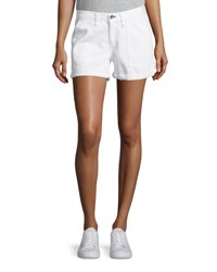 Rag And Bone Carpenter Cuffed Shorts Aged Bright White