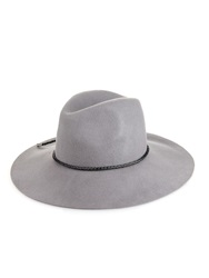 Emilio Pucci Woven Leather Trim Felt Hat