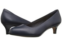 Clarks Heavenly Shine Navy Leather Women's Shoes Blue