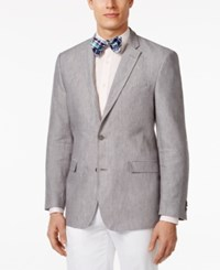 Tommy Hilfiger Men's Linen Classic Fit Sport Coat Grey