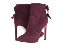 Nine West Lateeri Wine Suede High Heels Burgundy