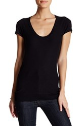 Inhabit Cap Sleeve Tee Black