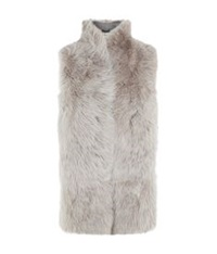 Whistles Sheepskin Gilet Beige