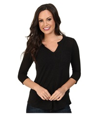 Lucky Brand Pocket Tunic Lucky Black Women's Blouse Multi
