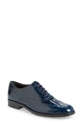 Tod's Wingtip Oxford Women Navy Leather