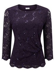 Eastex Sequin Lace Top Purple