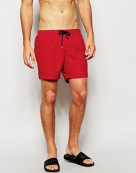 New Look Basic Swim Shorts Red