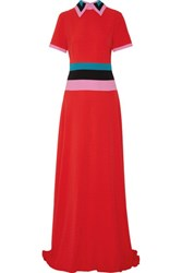Roksanda Ilincic Zubin Color Block Textured Crepe Gown