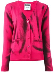 Moschino Trompe L'oeil Cardigan Pink And Purple