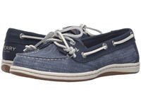 Sperry Firefish Ripstop Canvas Navy Women's Lace Up Moc Toe Shoes
