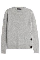 Steffen Schraut Cashmere Pullover With Buttons Grey